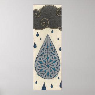 Impresión de la lluvia posters