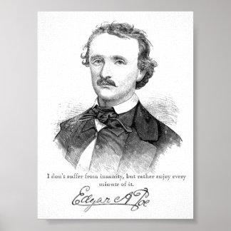 Impresión de la locura del Poe Posters