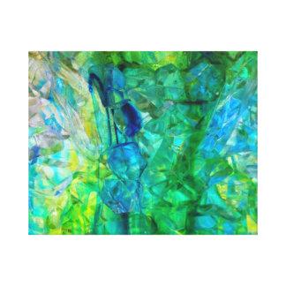 Impresión de la lona 20x16 de los cristales 2 del  lona envuelta para galerías
