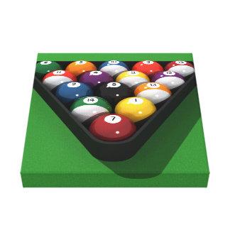 Impresión de la lona: Bolas de piscina/billares Impresión En Lona Estirada