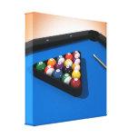 Impresión de la lona: Bolas de piscina/billares Impresión En Lona