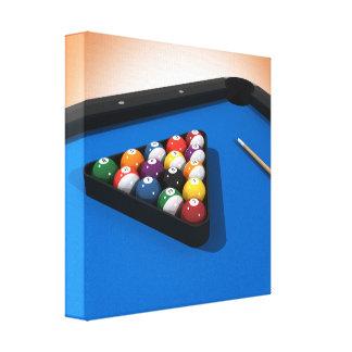 Impresión de la lona: Bolas de piscina/billares Lona Envuelta Para Galerias