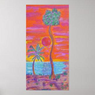 Impresión de la lona - brisa tropical impresiones