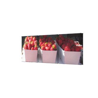 Impresión de la lona - cestas de la fresa - Tripti Impresiones En Lienzo Estiradas