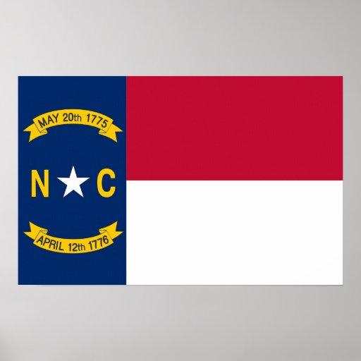 Impresión de la lona con la bandera de Carolina de Impresiones
