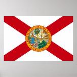 Impresión de la lona con la bandera de la Florida, Póster