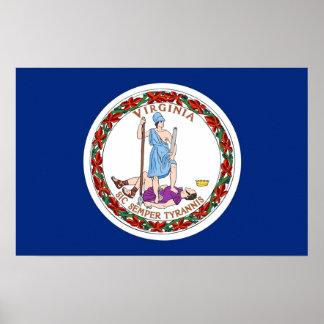 Impresión de la lona con la bandera de Virginia, l Impresiones