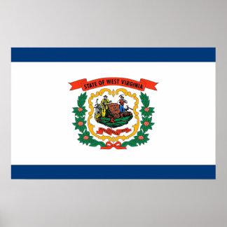 Impresión de la lona con la bandera de Virginia Oc Posters
