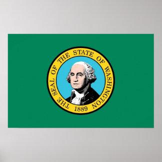 Impresión de la lona con la bandera de Washington, Impresiones