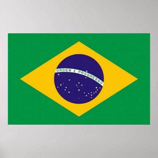 Impresión de la lona con la bandera del Brasil Impresiones