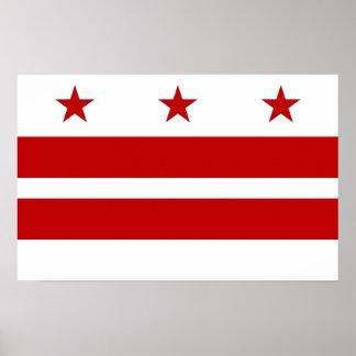 Impresión de la lona con la bandera del Washington Posters