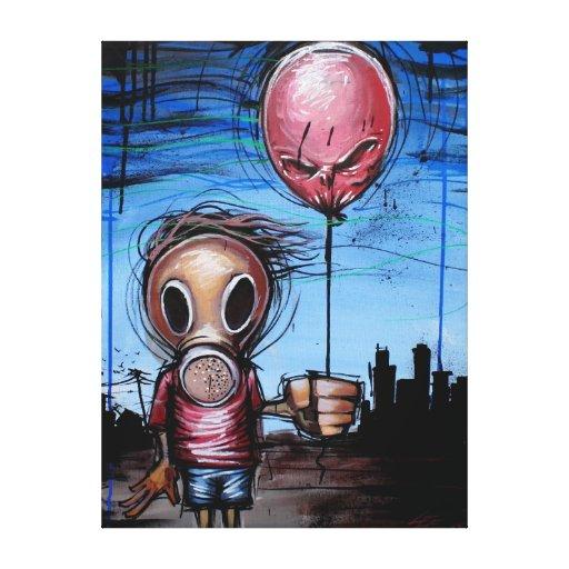 """Impresión de la lona de 18x24 del """"niño tóxico"""" de impresion de lienzo"""