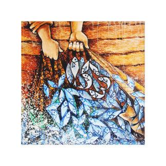 Impresión de la lona de arte de 153 pescados (con impresión de lienzo