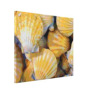 Impresión de la lona de arte de los Seashells de l Lienzo Envuelto Para Galerías