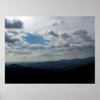 Impresión de la lona de Blue Ridge Mountains Posters