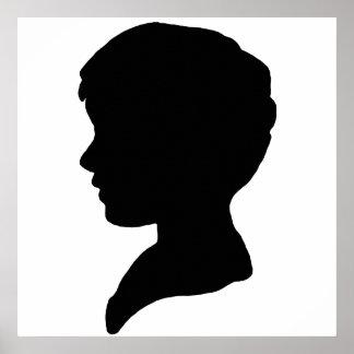 Impresión de la lona de Boyhead Poster