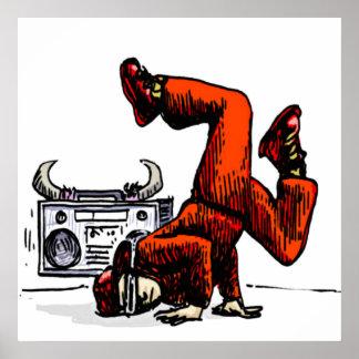 Impresión de la lona de Breakdance Oldschool Póster