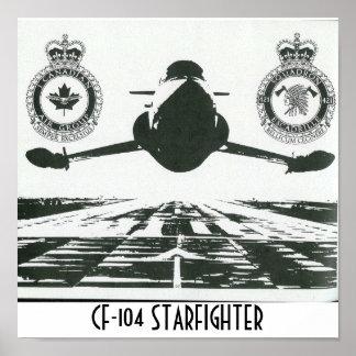 IMPRESIÓN DE LA LONA DE CF-104 STARFIGHTER PÓSTER