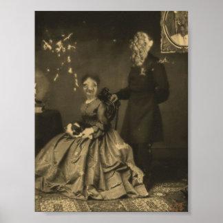 Impresión de la lona de Charlie y de Eileen Póster