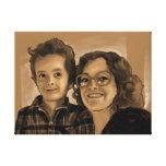 Impresión de la lona de Chris y de la mamá 24x18