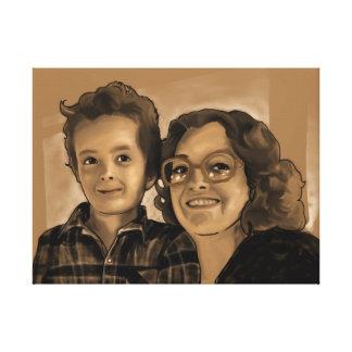 Impresión de la lona de Chris y de la mamá 24x18 Lona Estirada Galerias