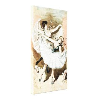 """Impresión de la lona de """"dos bailarinas"""" (tono bla impresiones en lienzo estiradas"""