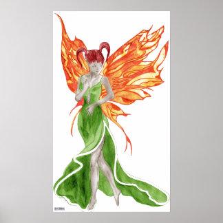Impresión de la lona de Flutterby Fae (hiedra) Poster