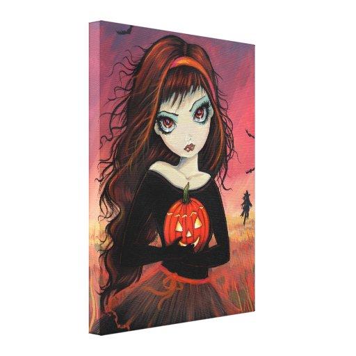 Impresión de la lona de Halloween del fuego del ot Lona Envuelta Para Galerias