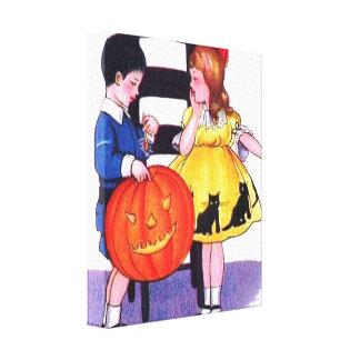 Impresión de la lona de Halloween SmallStretched Lona Envuelta Para Galerias