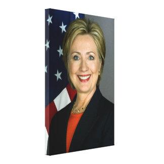 Impresión de la lona de Hillary Clinton
