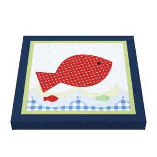 Impresión de la lona de Jackson//Whale/Fish Lienzo Envuelto Para Galerías