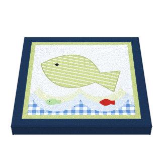 Impresión de la lona de Jackson//Whale/Fish Impresión En Lienzo Estirada