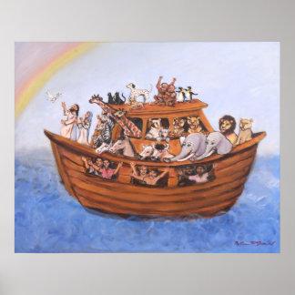 Impresión de la lona de la arca de Noah Póster