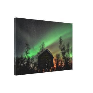 Impresión de la lona de la aurora boreal impresión de lienzo