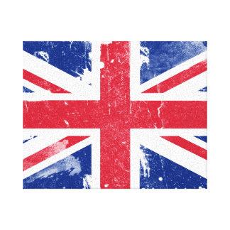 Impresión de la lona de la bandera de Union Jack d Lona Envuelta Para Galerías