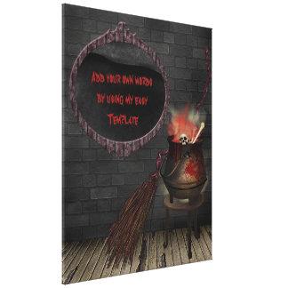 Impresión de la lona de la bruja de la cocina lona envuelta para galerías