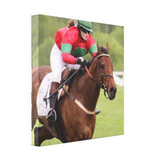 Impresión de la lona de la carrera de caballos lona envuelta para galerias