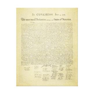 Impresión de la lona de la Declaración de Independ Impresion En Lona
