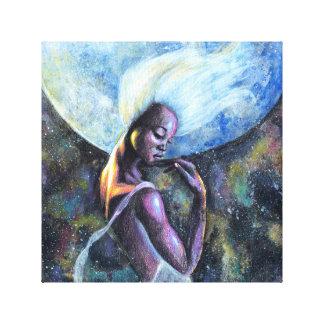 Impresión de la lona de la diosa de la luna