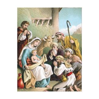 Impresión de la lona de la escena de la natividad impresiones en lienzo estiradas