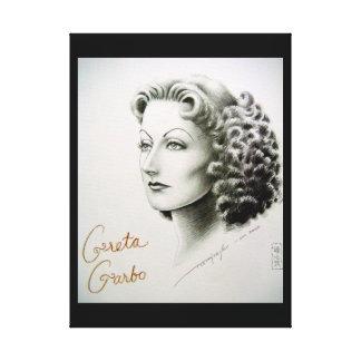 Impresión de la lona de la estrella de cine Greta Impresiones En Lienzo Estiradas