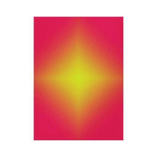 Impresión de la lona de la estrella que brilla int lienzo envuelto para galerias