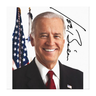Impresión de la lona de la firma de Joe Biden Impresion En Lona