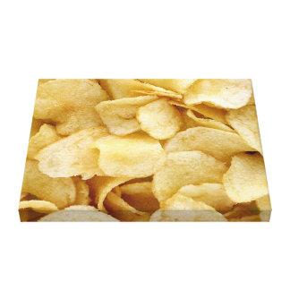 Impresión de la lona de la foto de la patata frita impresiones en lienzo estiradas