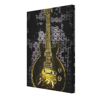 Impresión de la lona de la guitarra lona estirada galerías