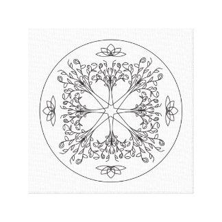 Impresión de la lona de la mandala - los árboles e impresión en tela