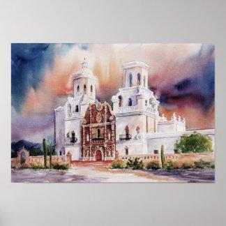 Impresión de la lona de la misión de San Javier
