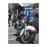 Impresión de la lona de la moto de la policía lienzo envuelto para galerías