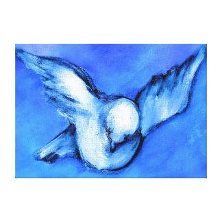 Impresión de la lona de la paloma del blanco por impresión en lienzo estirada