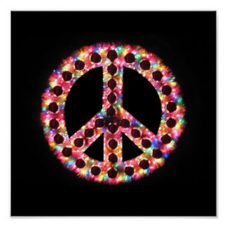 impresión de la lona de la paz de 5 colores posters